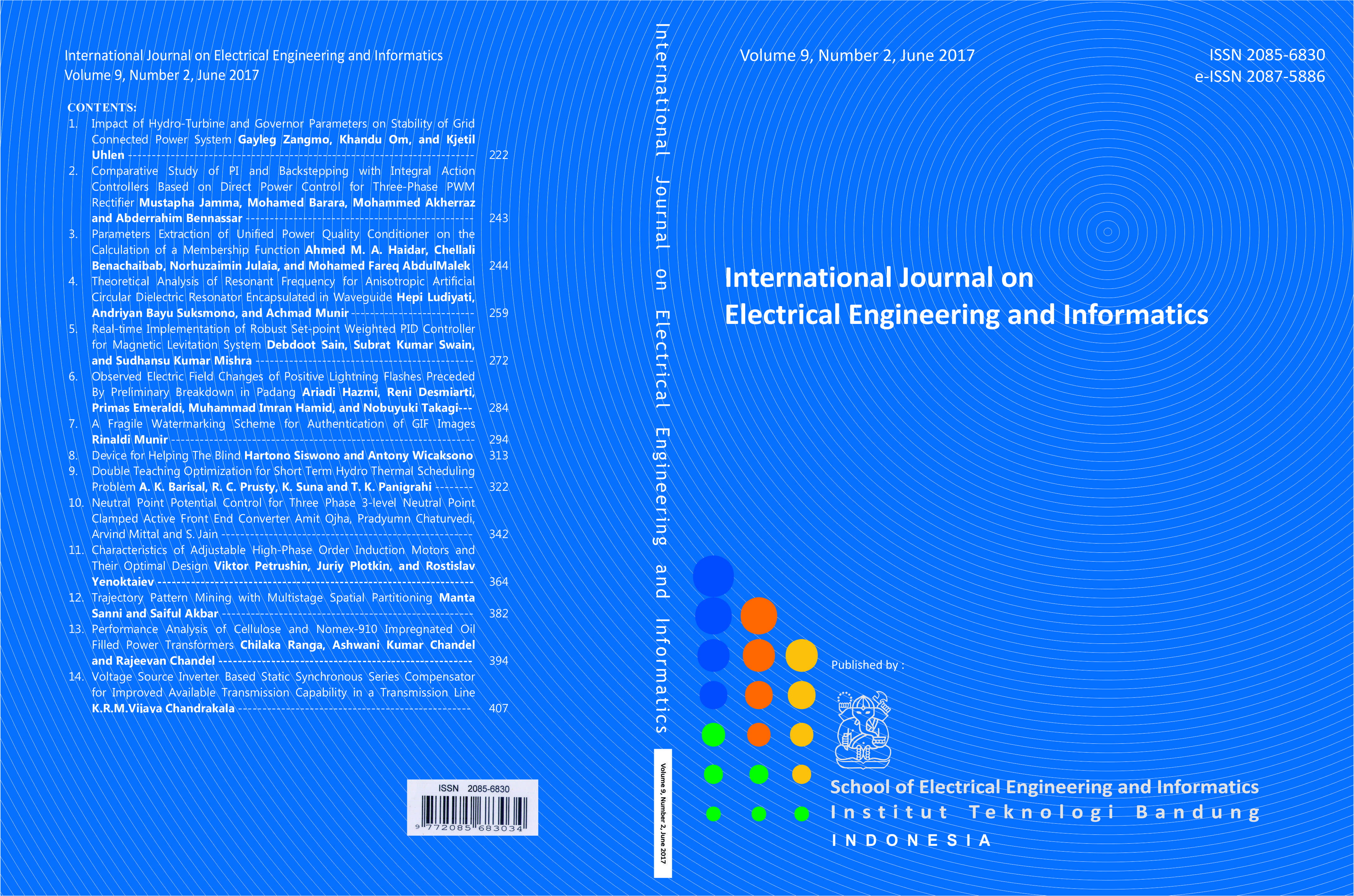 Journal cover Vol. 9 No. 2 June 2017